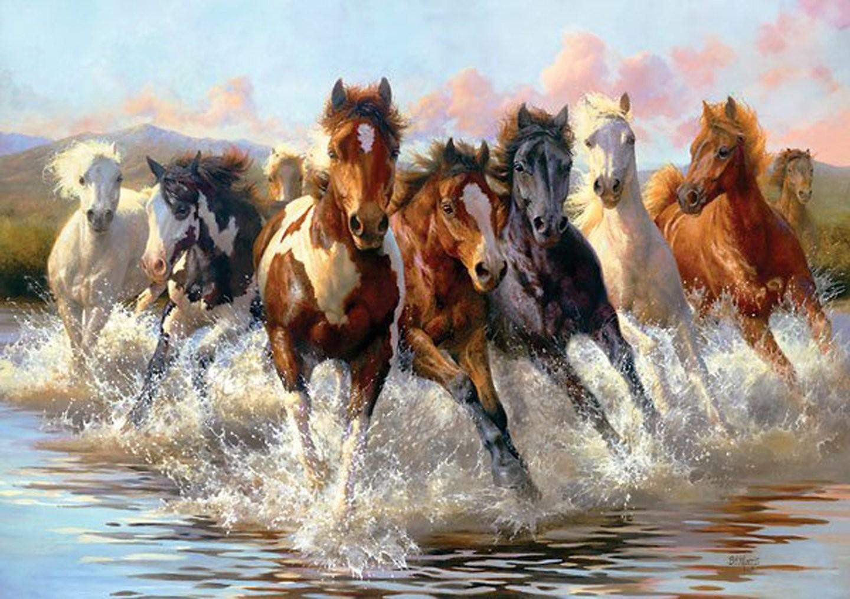 7 Running Horses Painting34